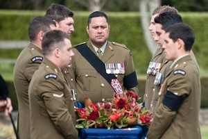 Corporal Doug Grant's military funeral was held at Linton army camp. Photo / Supplied