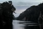 Lake Arapuni, near Putaruru, where police are searching for two missing fisherman. Photo / Alan Gibson.