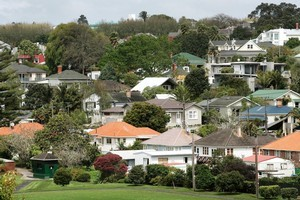 Property values in the inner Auckland city suburb of Westmere rose 7.4 per cent in the year to August. File photo