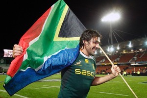 Lock Victor Matfield will be key to the Springboks' chances. Photo / NZ Herald