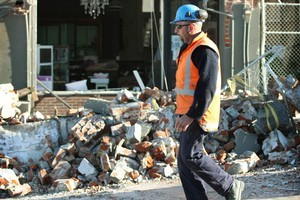 The major rebuilding of Christchurch cannot start until the shaking stops. Photo / Greg Bowker