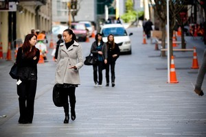 Auckland pedestrians are given priority under the Auckland City Centre master plan. Photo / Dean Purcell