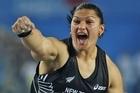 Valerie Adams of New Zealand celebrates winning the women's shot put final. Photo / Getty Images