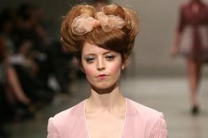 A model wears a creation by Annah Stretton at Fashion Week 2011. Photo / Babiche Martens