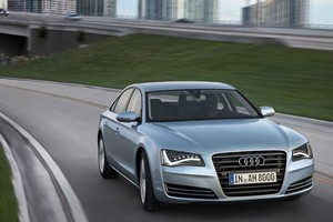 Audi's big A8 will be released next year as a hybrid. Photo / Supplied