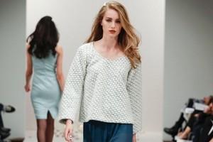 A model wears a creation by Celine Rita at Fashion Week 2011. Photo / NZ Fashion Week