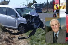 The death of Allan Hubbard, who was killed after a head-on car crash yesterday, has been described as a great tragedy by his supporters. Photo / Oamaru Mail