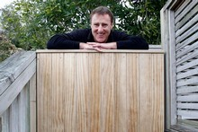 Handyman Greig Morgan knocked up a privacy-enhancing garden gate. He says it's a basic design and an easy one to copy. Photo / Janna Dixon