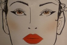 The makeup chart for the Hailwood show. Image / Supplied