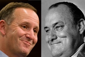 John Key is becoming a single, dominant voice in the media, much as Sir Robert Muldoon did at the height of his power. Photos / File
