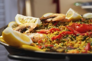 Paella a la Russe is something that would've been unimaginably hard to find in Russian restaurants two decades ago. Photo / Thinkstock