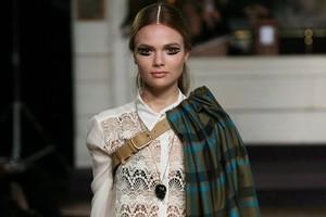 A model wears a creation by Salasai at Fashion Week 2011. Photo / Babiche Martens