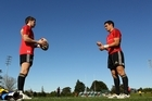 Colin Slade doesn't mind playing back-up to All Black first five eighth Dan Carter. Photo / Getty Images