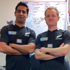 Gearing up for the RWC in the labs at Auckland Hospital. Photo / Nikhil