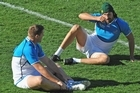Bakkies Botha, left, and Victor Matfield are both nursing injuries but the prognosis on Matfield is much better. Photo / Getty Images