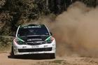 Hayden Paddon give it all during Rally Australia. Photo / Alan McDonald