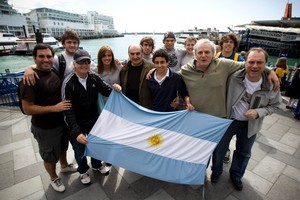 Rugby fans from Argentina are hoping for a strong show, but how will their team affect the All Blacks?  Photo / Dean Purcell.