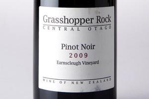 Grasshopper Rock Earnscleugh Vineyard Central Otago Pinot Noir 2009 $30. Photo / Babiche Martens