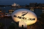 Tourism New Zealand's giant rugby ball was blessed. Photo / Getty Images