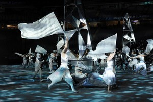 Performers at the Dress Rehearsal for the Opening Night extravaganza for the Rugby World Cup 2011. Photo / supplied