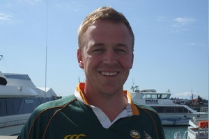 Gavin Bennett, a Springbok fan in Auckland for the Rugby World Cup. Photo / Supplied