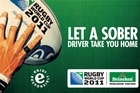 Heineken is wrapping inner-city taxis with this message urging fans to get home safely. Photo / Supplied
