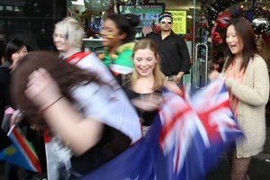Rugby World Cup fans show their true colours. Photo / Janna Dixon