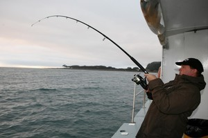 Long rods for casting light baits with a spin reel work best in shallow water. Photo / Geoff Thomas
