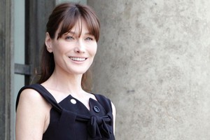 'I will never show photos of this child' says Carla Bruni. Photo / AP