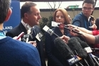 John Key and Julia Gillard following their swapping of NZ/Australia rugby jerseys at the Pacific Islands Forum in Auckland. Photo / NZ Herald