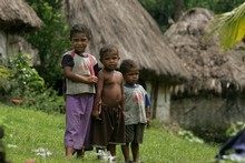 In the Pacific, poverty looks like one million children who can't go to school and a lack of safe drinking water suffered by half of the population.