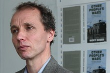 Author Nicky Hager during a press conference in Wellington after the release of his book 'Other People's Wars.'   Photo / Mark Mitchell