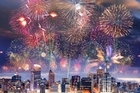 A impression of the fireworls during the opening ceremony. Photo / Supplied