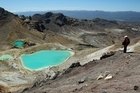 Two German tourists were rescued on the Tongariro Crossing today. File photo / Greg Bowker