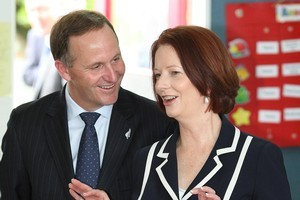 Prime Minister John Key and  Australian Prime Minister Julia Gillard are among the leaders attending this week's Pacific Islands Forum. File photo / Greg Bowker