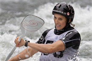 Luuka Jones made a powerful performance at the world canoe slalom championships in Slovakia. Photo / APN