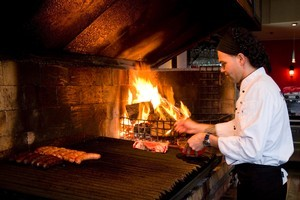 The open wood-fired grill is central to the menu at Buenos Aires Restaurant. Photo / Dean Purcell