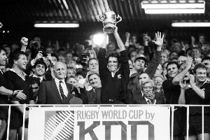 The All Blacks were victorious in 1987 but  there had been little angst over their prospects before the tournament. File Photo / John Stone