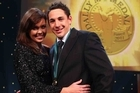 Nicole Slater and Billy Slater celebrate his Dally M medal win. Photo / Getty Images