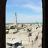 View from ther top of the Leaning minaret at the Sayid Sholkobbiy Mosque in the ancient Silk Road town of Khiva, Uzbekistan. Photo / Jim Eagles