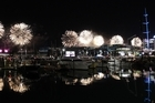 A large number of vessels were on the water to watch the Rugby World Cup opening ceremony fireworks last night. Photo / Sarah Ivey