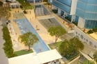 An architect's model of the A$700 million Hilton Hotel site at Surfers Paradise. Photo / AAP