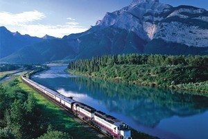 The Rocky Mountaineer rail service. Photo / Rocky Mountaineer Canada