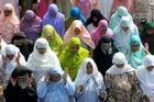 Muslims women offer Eid al-Fitr prayers at the Hazratbal shrine in Srinagar, India, to mark the end of the month of Ramadan. Photo / AFP