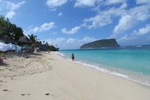 The beautiful beach at Lalomanu. Photo / Belinda Henley