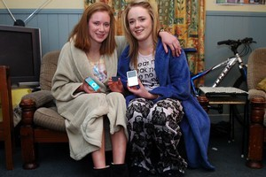 University of Otago students Kathryn Kennedy and Emily Reynolds chased an intruder through campus so they could get their belongings back. Photo / Otago Daily Times
