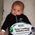 Baby Isabella Rose, No 1 All Blacks supporter. Photo / Hannah Lee Robinson
