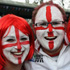 Excited England supporters for the Argentina - England game in Dunedin. Photo / Getty Images