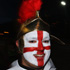 An England supporter stands proudly in true English style. Photo / Getty Images