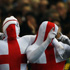 England fans demonstrate their patriotism from head to toe. Photo / Getty Images